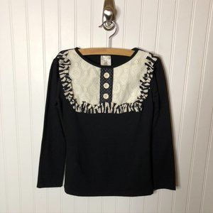 Persnickety Black White Boutique Top Girls 10